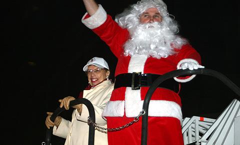 Mayor and Santa