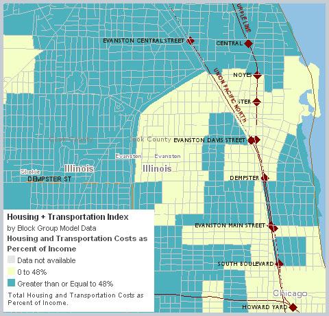 Evanston Housing + Transportation costs