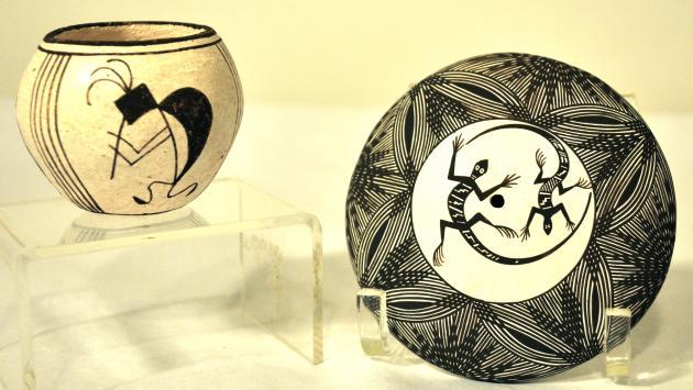 Jemez and Acoma Pueblo Pottery at the Mitchell Museum in Evanston, Illinois