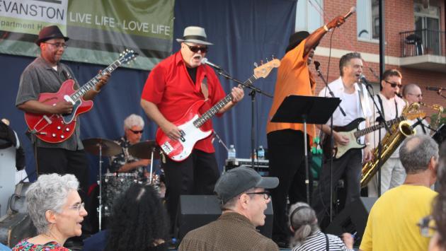 SBB recently headlined Evanston's Custer Street Fair.